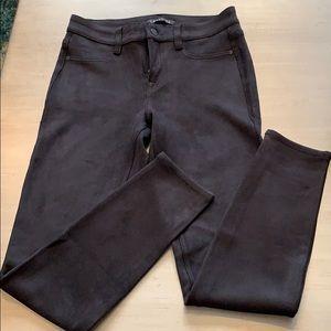 Level 99 Black Suede Look Skinny Jeans